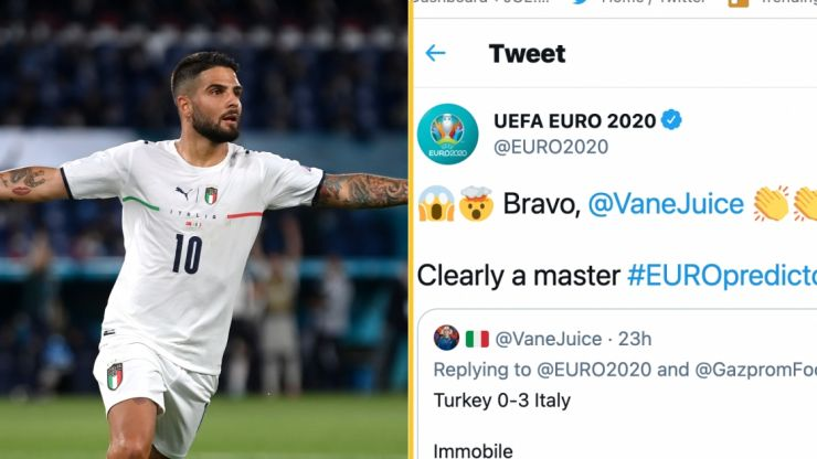 Fan predicts score and scorers of Italy-Turkey 10 hours before the match