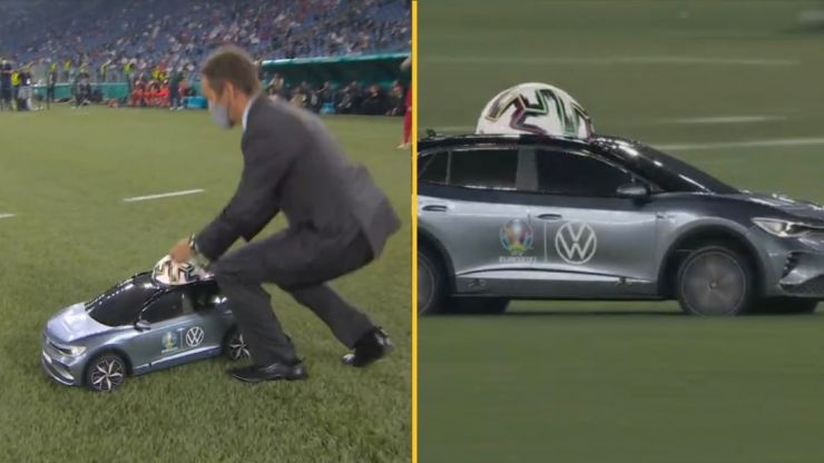 Euro 2020 starts with remote control car and left everyone confused