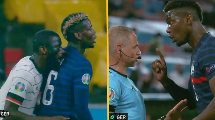 "Roy Keane bemused by ""child-like"" Rudiger's bite on Pogba"