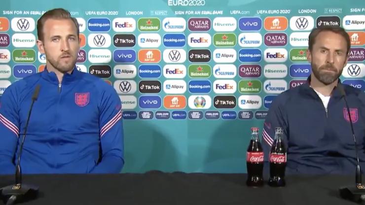 Southgate explains why he didn't move Coke bottles like Ronaldo