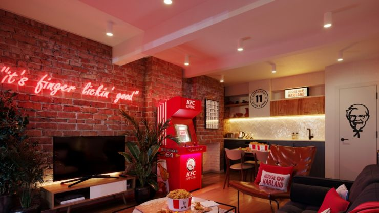 KFC themed hotel opens in UK with free chicken delivered to your room