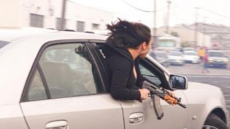 Woman in San Francisco pictured waving AK-47 out of car window