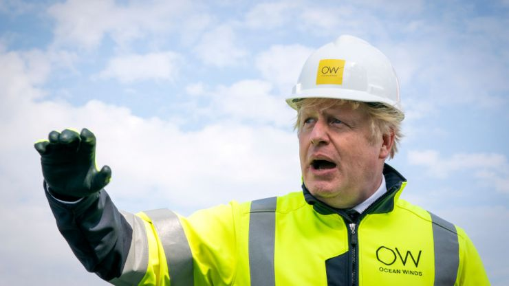 'We need to take action on climate change,' says PM who flew from London to Cornwall