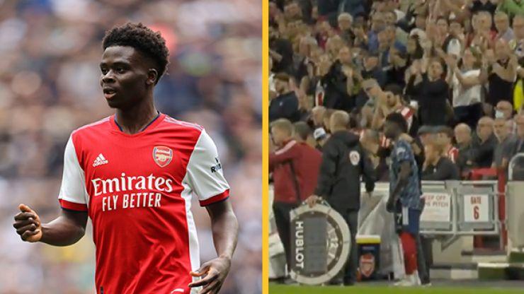 Bukayo Saka given standing ovation by Brentford fans