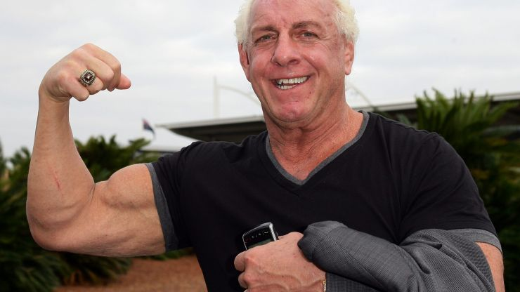Ric Flair denies giving woman oral sex on train after picture goes viral