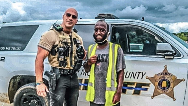 Police officer goes viral for uncanny resemblance to Dwayne Johnson