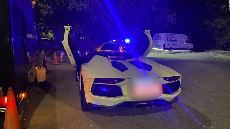 Driver left 'in tears' after untaxed £400,000 Lamborghini is seized