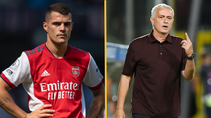 Jose Mourinho urges Granit Xhaka to get Covid vaccine after positive test