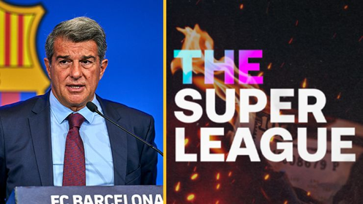 Barcelona president Joan Laporta claims Super League is still alive