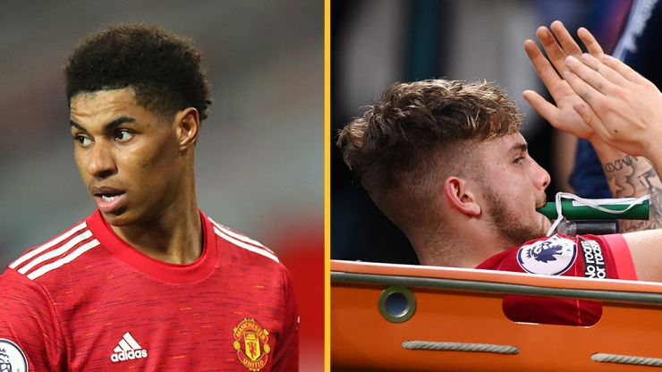 Marcus Rashford sends message to Harvey Elliott after he is stretchered off