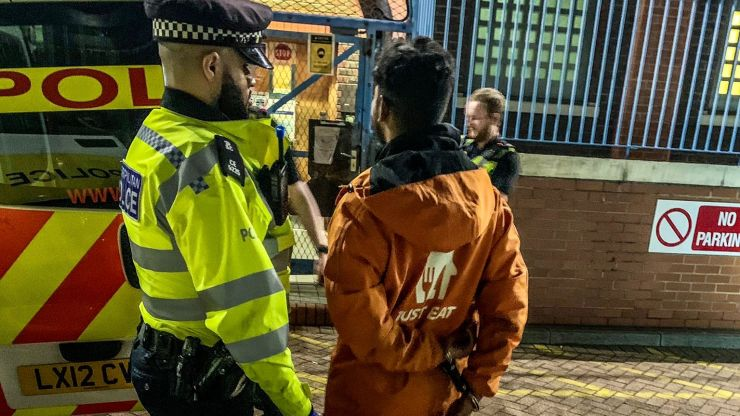 Fake Just Eat rider arrested after police find bag full of drugs instead of food