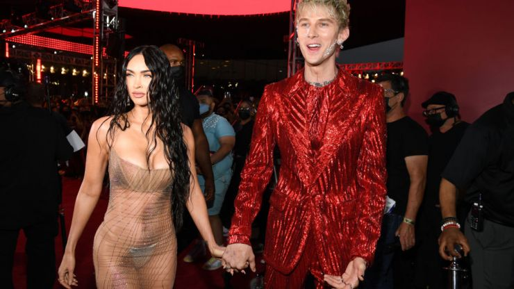 Megan Fox says she wore her 'naked' VMAs dress because Machine Gun Kelly told her to