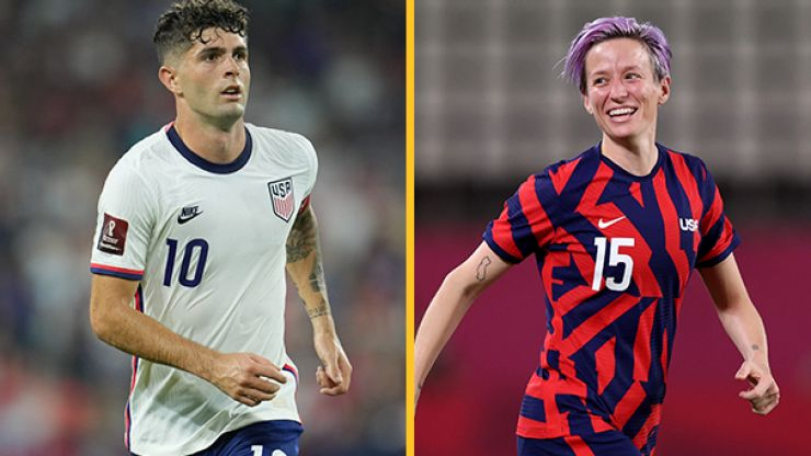 US men's and women's national football teams offered identical contracts