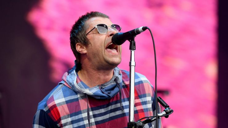 Liam Gallagher shows face injuries after falling out of helicopter