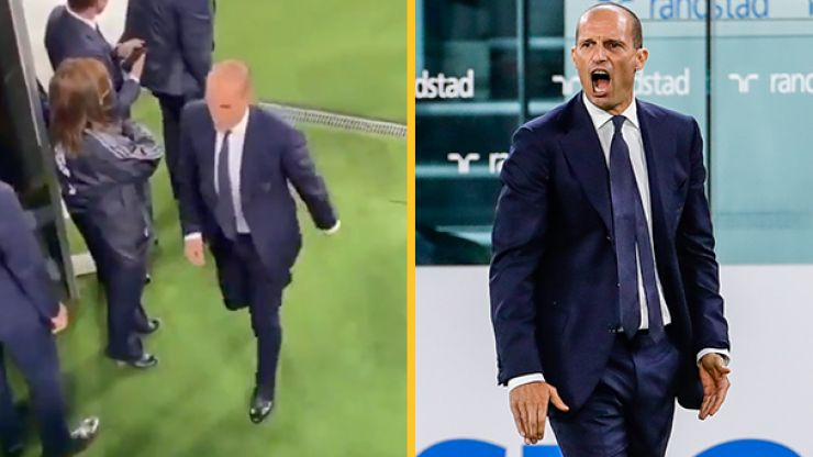 Furious Max Allegri caught swearing at Juventus players after more dropped points