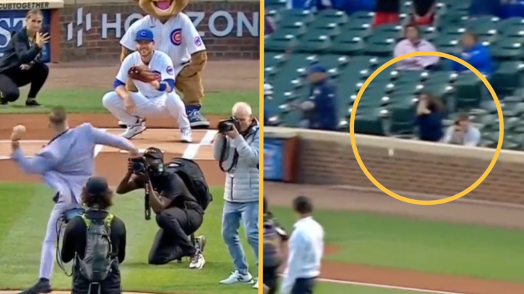 Conor McGregor nearly hits fan with awful first pitch at Wrigley Field