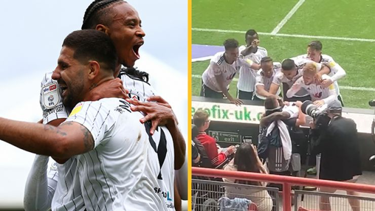 Fulham players share touching moment with disabled 13-year-old fan