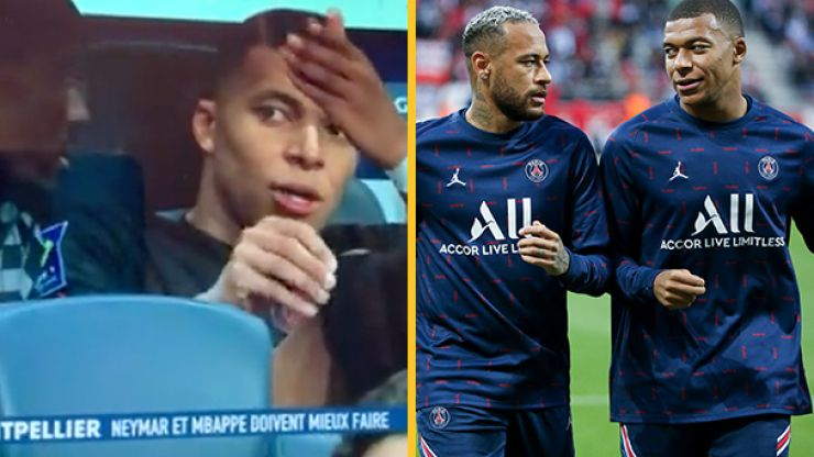 """Kylian Mbappe caught on camera complaining that Neymar """"doesn't pass"""" to him"""