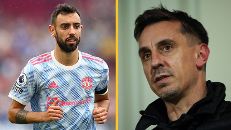 Gary Neville calls for authenticity on social media accounts after Bruno Fernandes apology