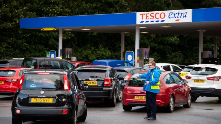 Petrol station chaos worsened by drivers filling up with wrong fuel