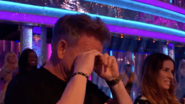 Gordon Ramsay cries in audience as daughter tops Strictly leaderboard