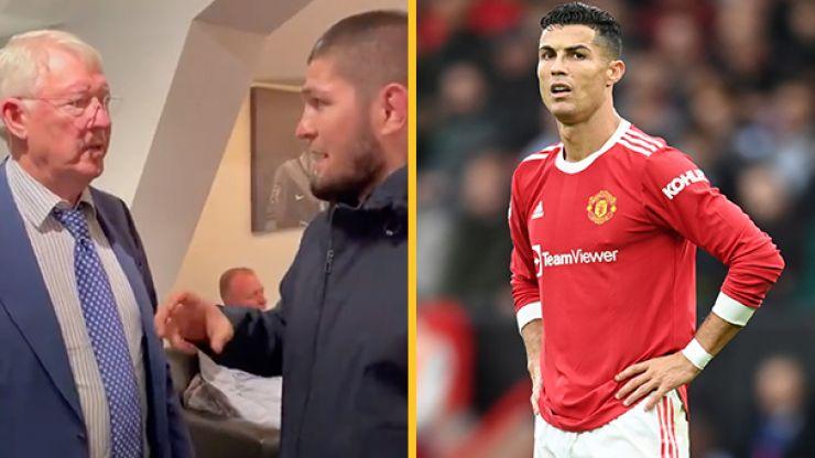 Sir Alex captured telling Khabib that Ronaldo should've started vs Everton