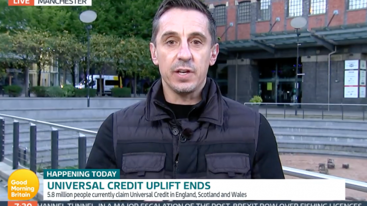 GMB viewers applaud Gary Neville after he 'destroys' Edwina Currie in Universal Credit row