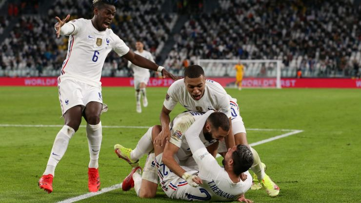 France score dramatic late winner against Belgium to secure place in Nations League final