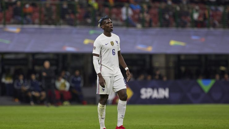 Paul Pogba gives passionate dressing room team talk during France Nations League win