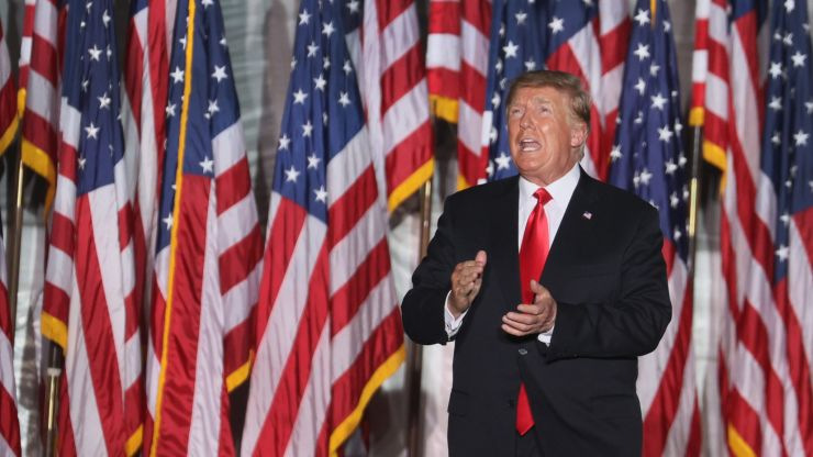 'I'm not into golden showers' Donald Trump declares in bizarre off-script moment