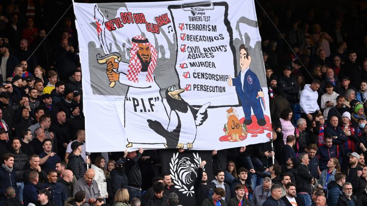 Police confirm no action will be taken on Crystal Palace fans' banner