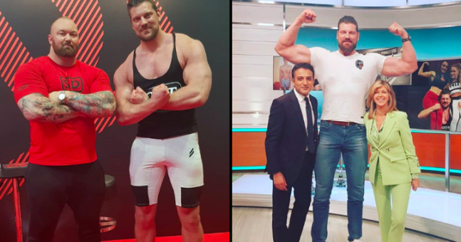 The 'world's tallest bodybuilder' makes The Mountain look
