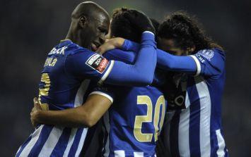 Vine: Manchester City target Eliaquim Mangala scored a cracking diving header for Porto tonight