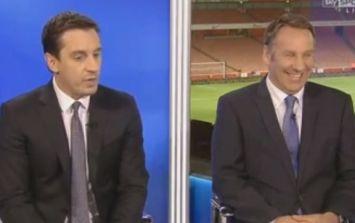 Video: Gary Neville slams Matt Jarvis for not going down against West Ham last night