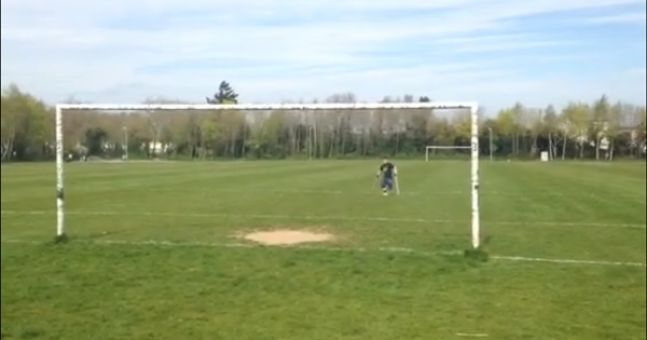 Video: Irish Amputee Football Association player nails a crossbar challenge