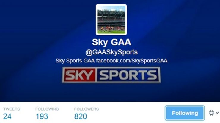 Is this the real Sky GAA Twitter account?