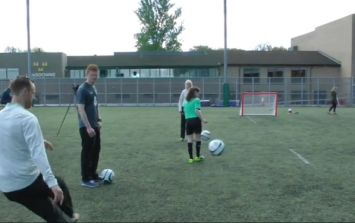 Video: David Meyler shows off some questionable skills
