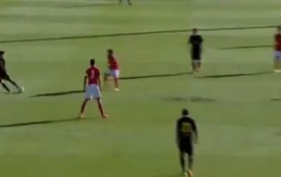 Video: Check out this amazing goal from the halfway line in the UEFA Youth League final