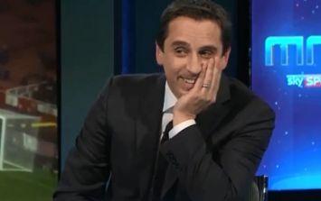 Video: Gary Neville fairly took Arsenal apart on Monday Night Football tonight