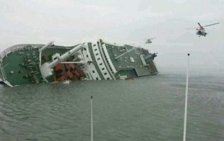 Pics: Rescue efforts continue on sinking ferry off the South Korean coast