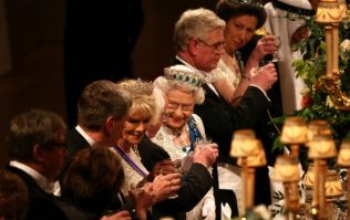 A fantastic shot of the state banquet at Windsor Castle last night