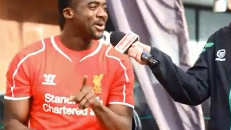 Video: Kolo Toure sings the Toure brothers chant at the launch of Liverpool's new kit