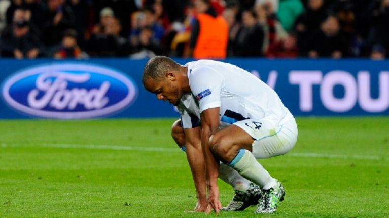 Picture: Vincent Kompany limps out of training before huge Liverpool clash tomorrow
