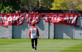 Pics: Liverpool fans turned up to training today with these brilliant banners