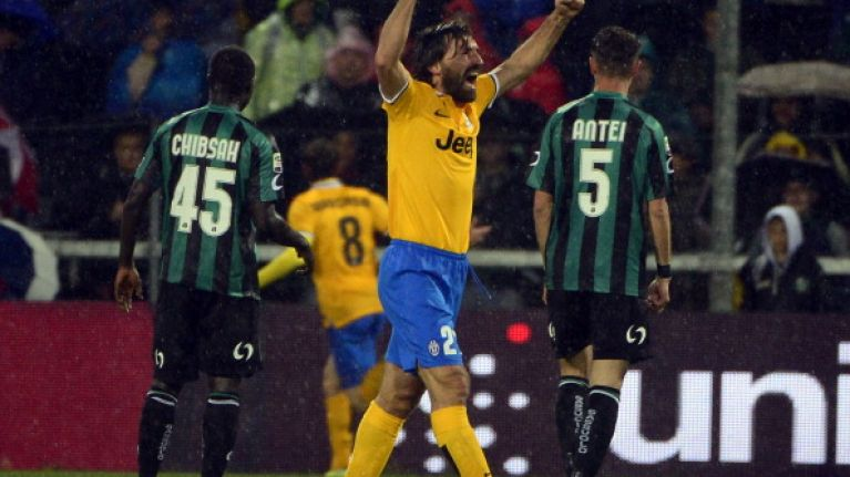Vine: Andrea Pirlo hit a stunning pass to set up a goal for Juventus last night
