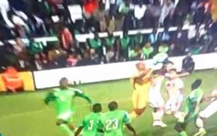 Vine: Check out this disallowed 'own goal' from tonight's Scotland v Nigeria match