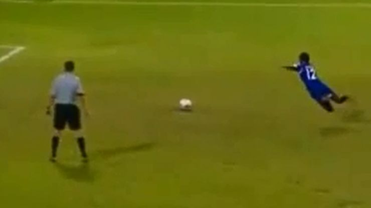 Video: Probably the most ridiculous penalty of all-time was taken by a Maldives international last night
