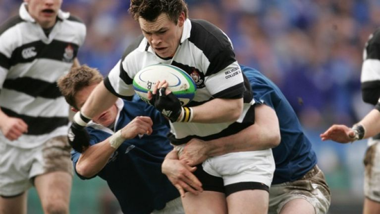 Pic: Cian Healy and Cathal Pendred look a lot different now than when they won the Leinster Senior Cup in 2005