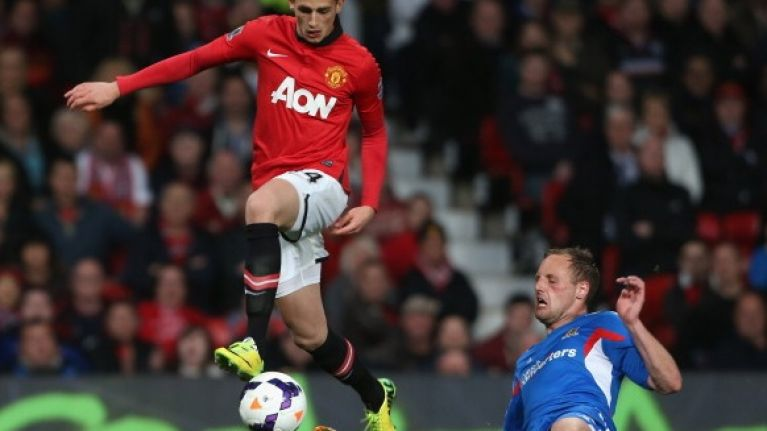 Vine: Was David Meyler lucky not to be sent off for this stamp on Adnan Januzaj?