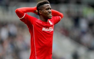 Pic: Wilfried Zaha is definitely the right man to advertise this company's brand of incredibly tight support shorts